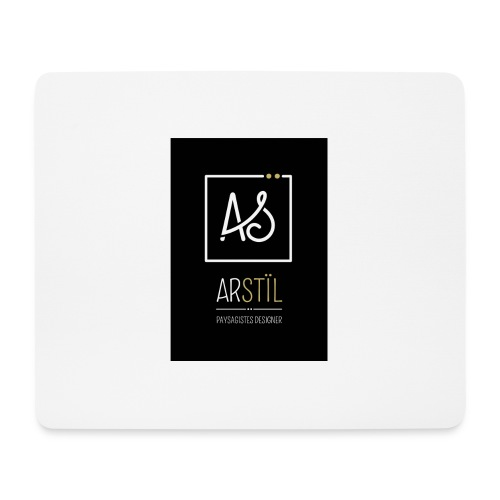 logo-fond-noir - Tapis de souris (format paysage)