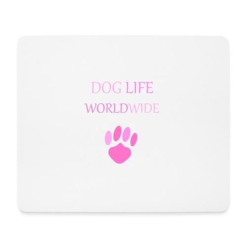 Pink Paw Print - Mouse Pad (horizontal)
