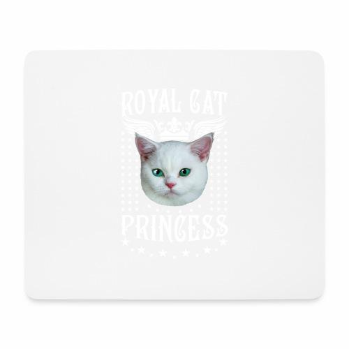 26 Royal Cat Princess white feine weiße Katze - Mousepad (Querformat)