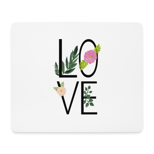 Love Sign with flowers - Mouse Pad (horizontal)