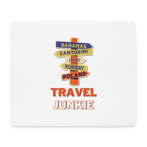 traveljunkie - i like to travel - Mousepad (Querformat)