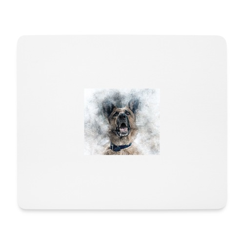 dog hund - Mousepad (Querformat)