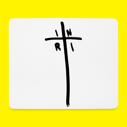 Cross - INRI (Jesus of Nazareth King of Jews) - Mouse Pad (horizontal)