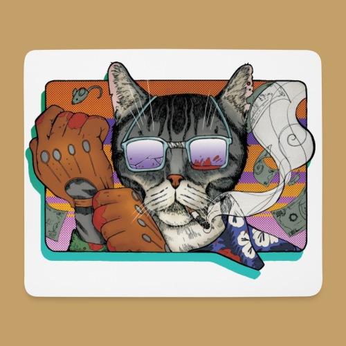 Crime Cat in Shades - Podkładka pod myszkę (orientacja pozioma)