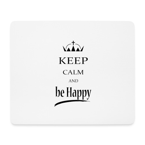 keep_calm and_be_happy-01 - Tappetino per mouse (orizzontale)