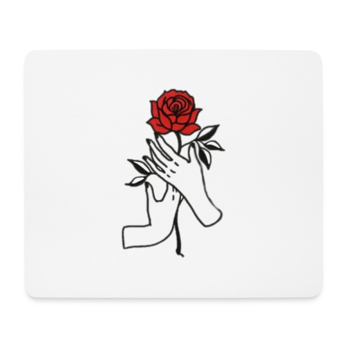 Fiore rosso - Tappetino per mouse (orizzontale)