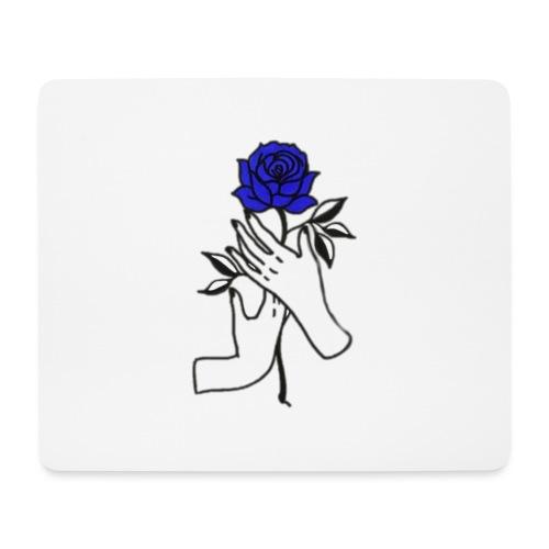 Fiore blu - Tappetino per mouse (orizzontale)
