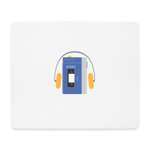 Stereo walkman in blue - Mouse Pad (horizontal)