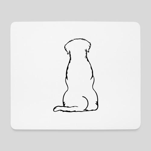 Labbi_sitzend_Back - Mousepad (Querformat)