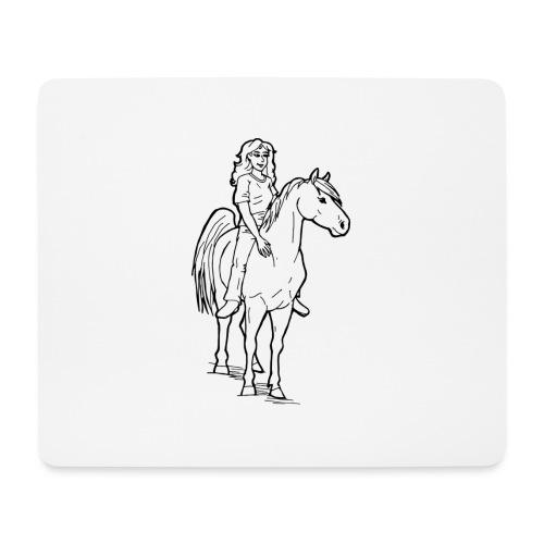 freie Reiterin - Mousepad (Querformat)