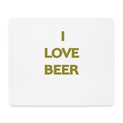 I LOVE BEER - Tappetino per mouse (orizzontale)
