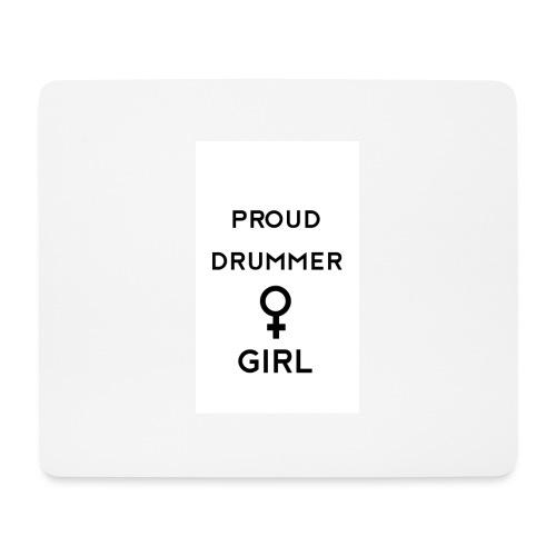 Proud drummer girl - white - Mousepad (bredformat)