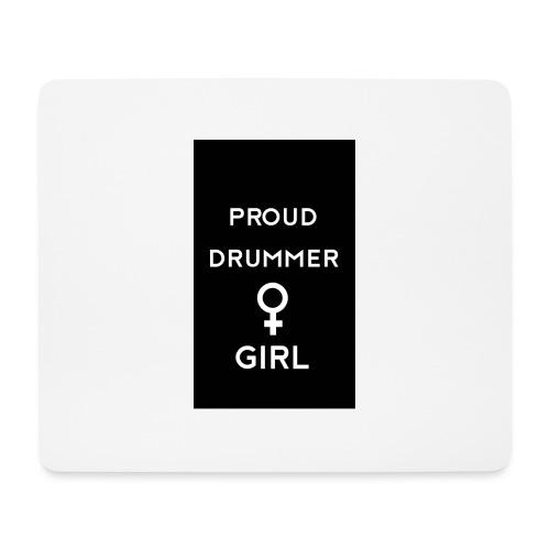 Proud drummer girl - black - Mousepad (bredformat)
