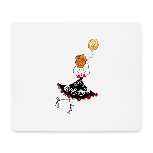 Ballerina con palloncino - Tappetino per mouse (orizzontale)