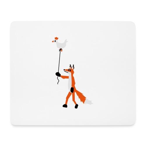 Fuchs und Henne - Mousepad (Querformat)