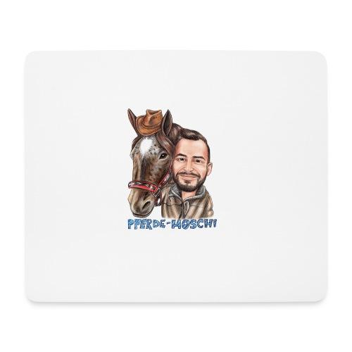 Pferde-Hoschi Kollektion hinten - Mousepad (Querformat)