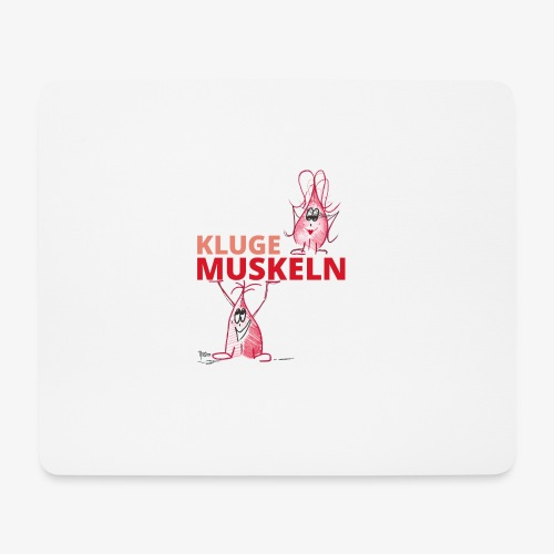 Kluge Muskeln - Mousepad (Querformat)