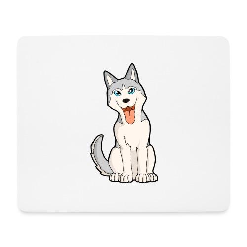 Husky grigio occhi azzurri - Tappetino per mouse (orizzontale)