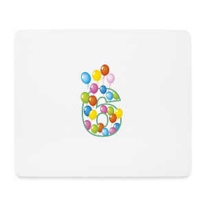 Sesto compleanno 6 - Mousepad (Querformat)