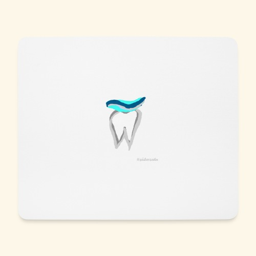 Zahn mit Pasta - Mousepad (Querformat)