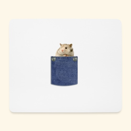 hamster in the poket - Tappetino per mouse (orizzontale)