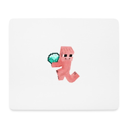 Schwein mit Diamant - Mousepad (Querformat)
