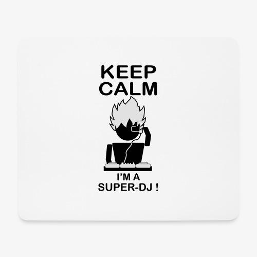 KEEP CALM SUPER DJ B&W - Tapis de souris (format paysage)
