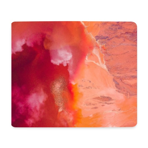 Abstract Art red/orange - Mousepad (Querformat)