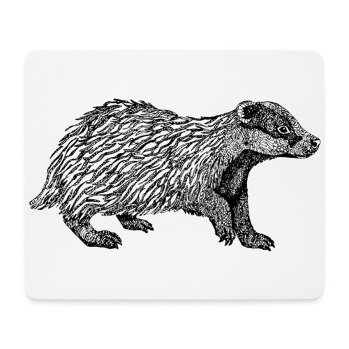 I love Badgers - Mouse Pad (horizontal)