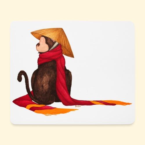 Un singe en hiver - Tapis de souris (format paysage)