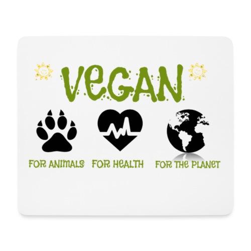 Vegan for animals, health and the environment. - Alfombrilla de ratón (horizontal)