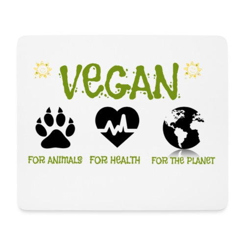 Vegan for animals, health and the environment. - Mouse Pad (horizontal)