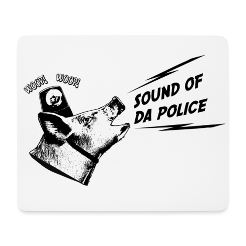 Sound of da Police - musta printti - Hiirimatto (vaakamalli)