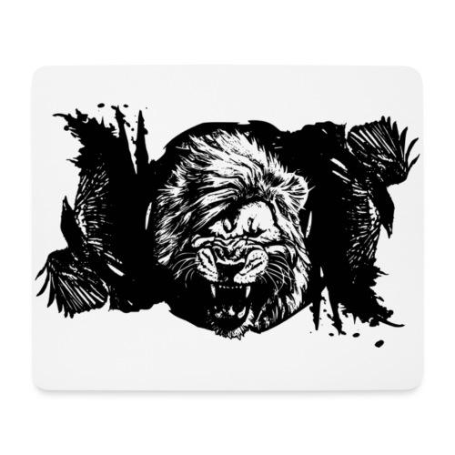 Raven & lion - Tapis de souris (format paysage)