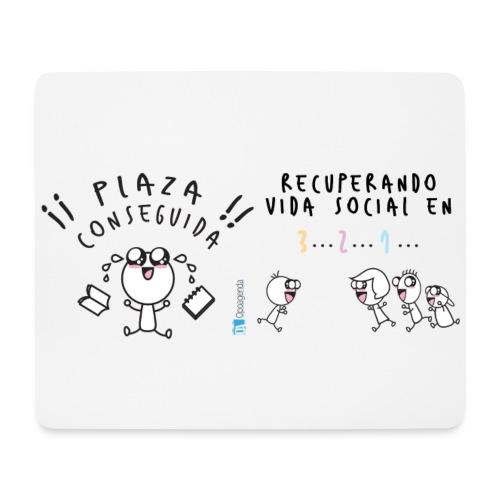 Plaza conseguida: Recuperando vida social en 3 2 1 - Alfombrilla de ratón (horizontal)