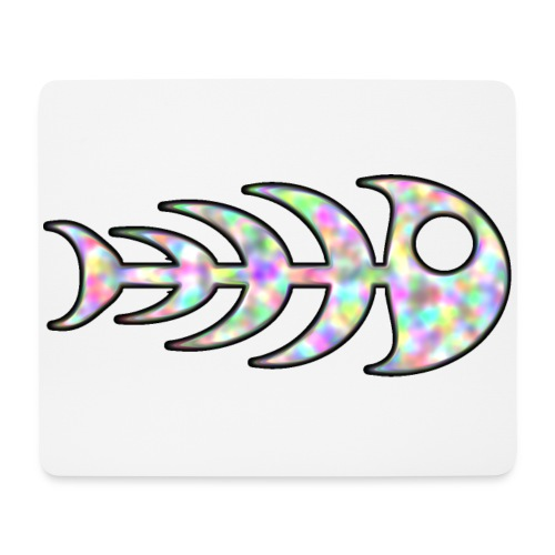 fish legs in rainbow colors - Mouse Pad (horizontal)