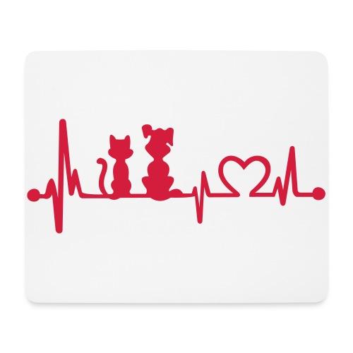 Vorschau: dog cat heartbeat - Mousepad (Querformat)