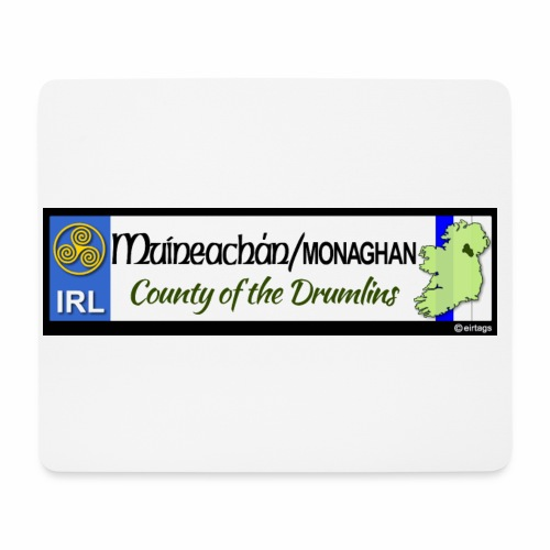 MONAGHAN, IRELAND: licence plate tag style decal - Mouse Pad (horizontal)