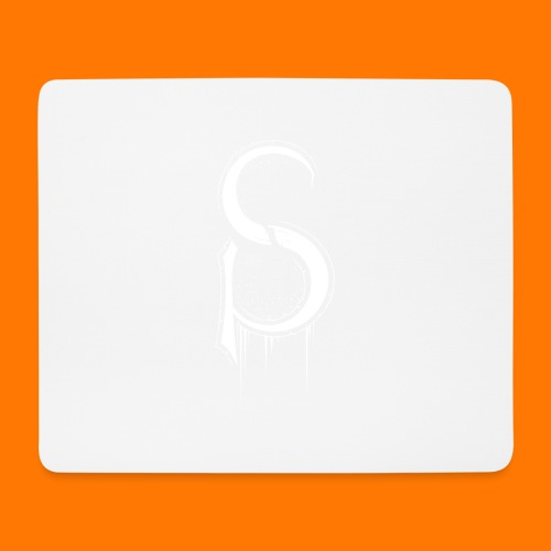 SCP-sign-WHITE transp - Mouse Pad (horizontal)