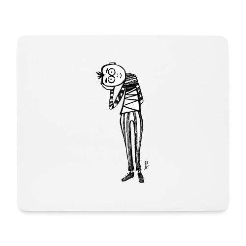 Punto di vista in bianco e nero - Tappetino per mouse (orizzontale)