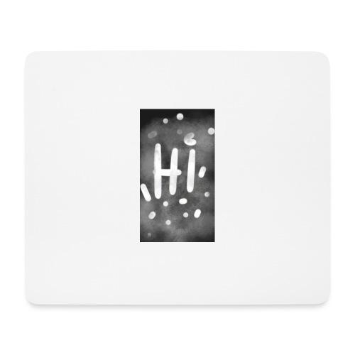 Hola o hi nublado - Alfombrilla de ratón (horizontal)