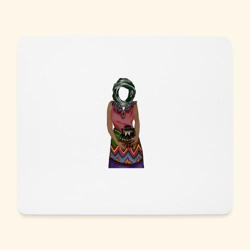 Femme avec jare - Tapis de souris (format paysage)