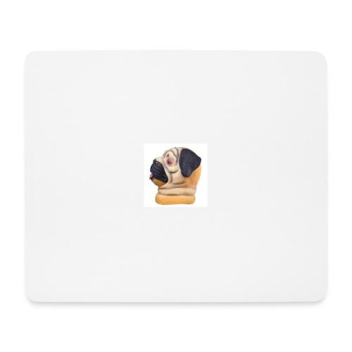 DJ Pug mask - Mouse Pad (horizontal)