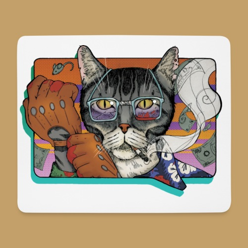 Crime Cat - Podkładka pod myszkę (orientacja pozioma)