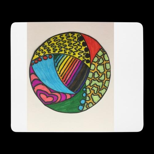 circle corlor - Mousepad (bredformat)