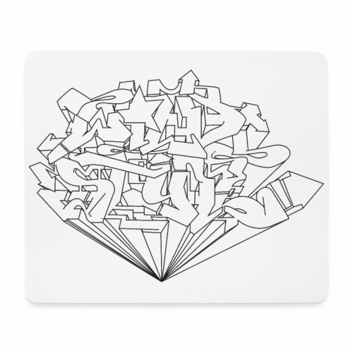 wild style ver0.1 Trick style √ - Mousepad (bredformat)