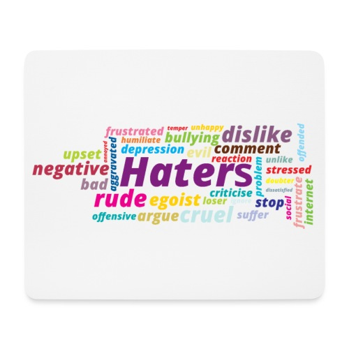 Haters - Alfombrilla de ratón (horizontal)
