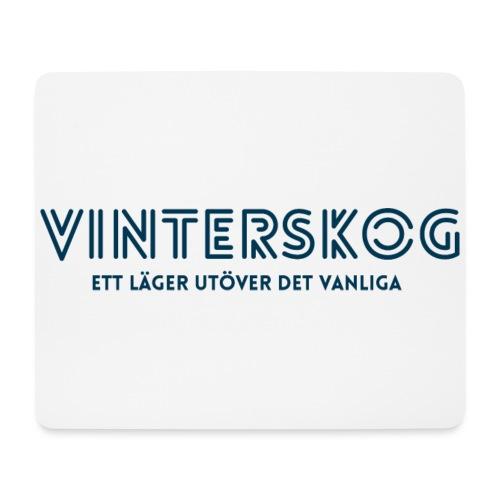 Vinterskog med blått tryck - Musmatta (liggande format)