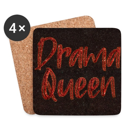 Drama Queen face mask glitter red - Coasters (set of 4)