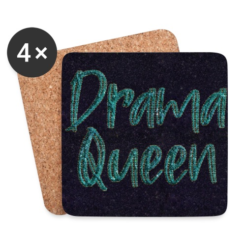 Drama Queen Glitter Gesichtsmaske - Coasters (set of 4)